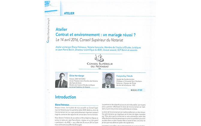 Publication au BDEI : contrat et environnement : un mariage réussi ?